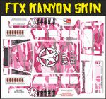 Pink Army Camo Camouflage themed vinyl SKIN Kit & Stickers To Fit R/C FTX Kanyon Rock Crawler